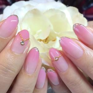 2016年春ピンクネイル
