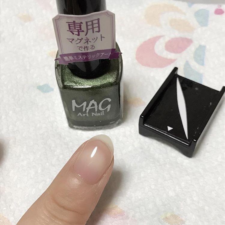 【磁石ネイル】人気急上昇中!100均のマグアートネイルのやり方・流れ