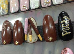 11月11日はポッキーの日♡チョコレートみたいな可愛いネイルデザイン